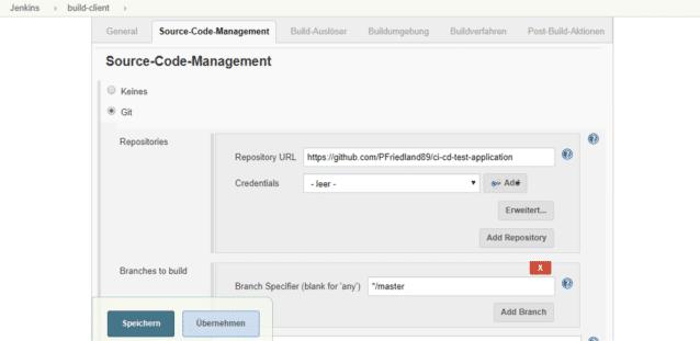 Source-Code-Management in Jenkins