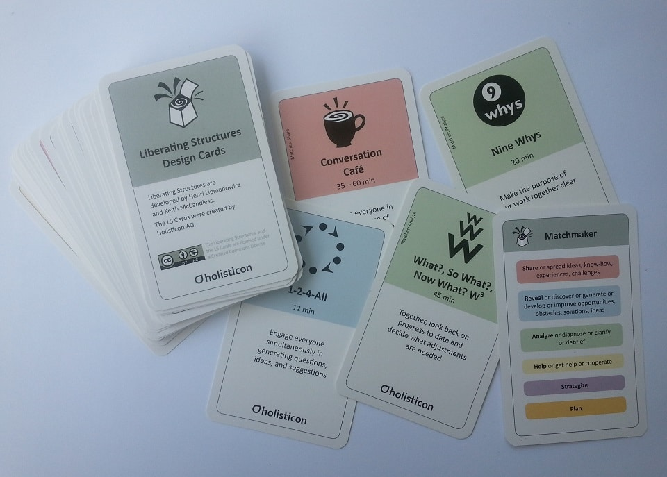 Liberating Structure Design Cards from Holisticon (source see below)