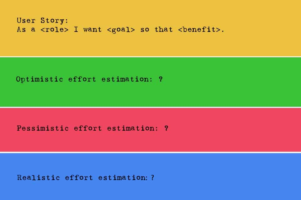 Concept of 3 Experts with different effort estimations