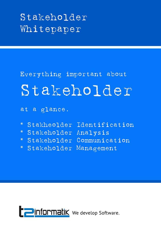 Stakeholder Whitepaper to take away