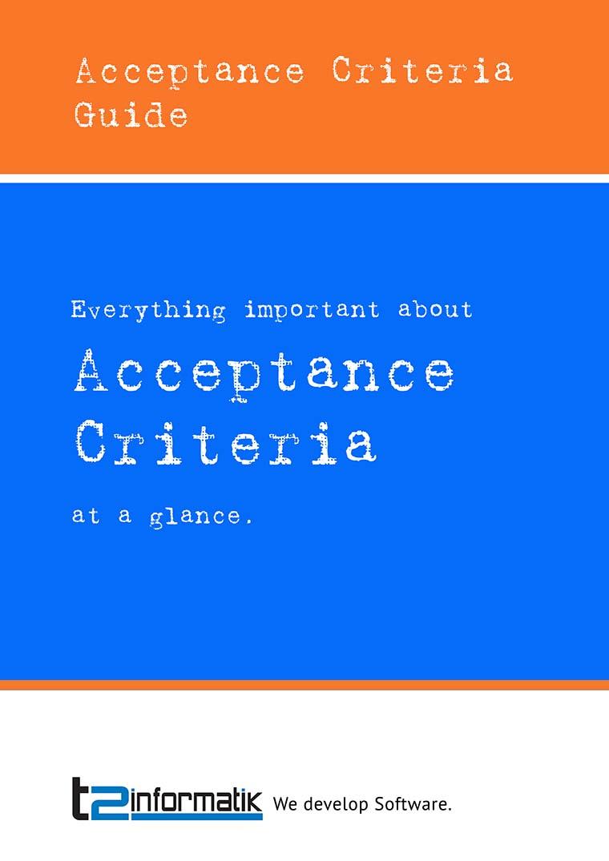 Acceptance Criteria to take away