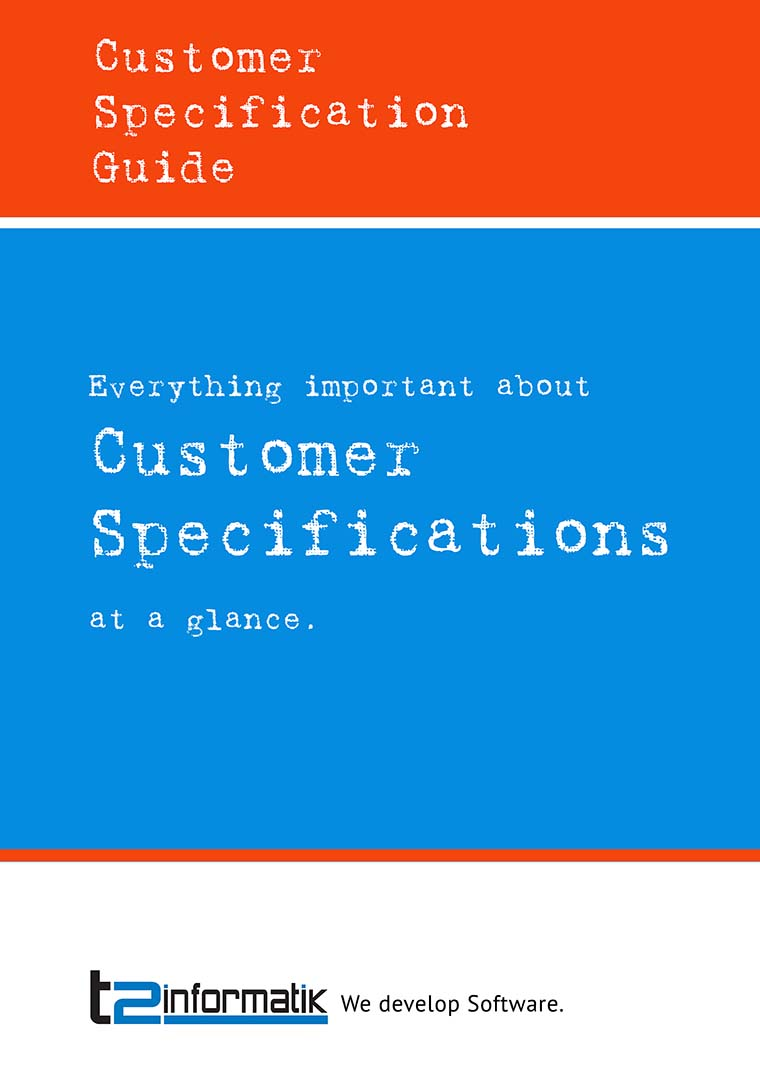 Customer Specification Guide to take away