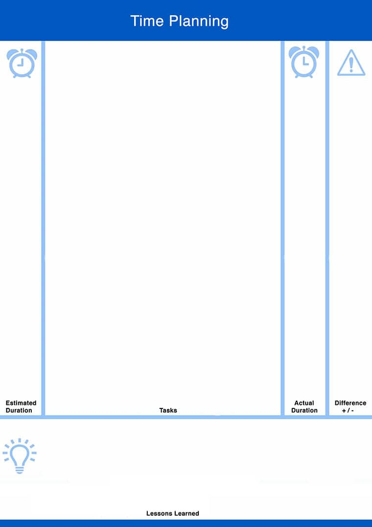 Time Planning Template to take away