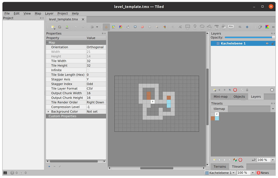 Tile set within Tiled Map Editor