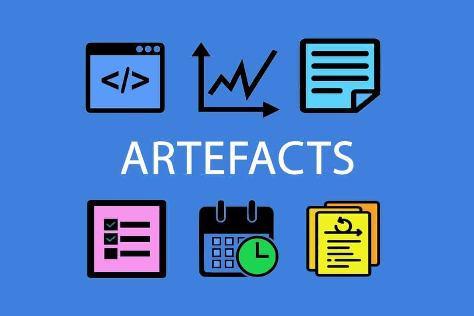 Artefact - an object created by people, e.g. in companies