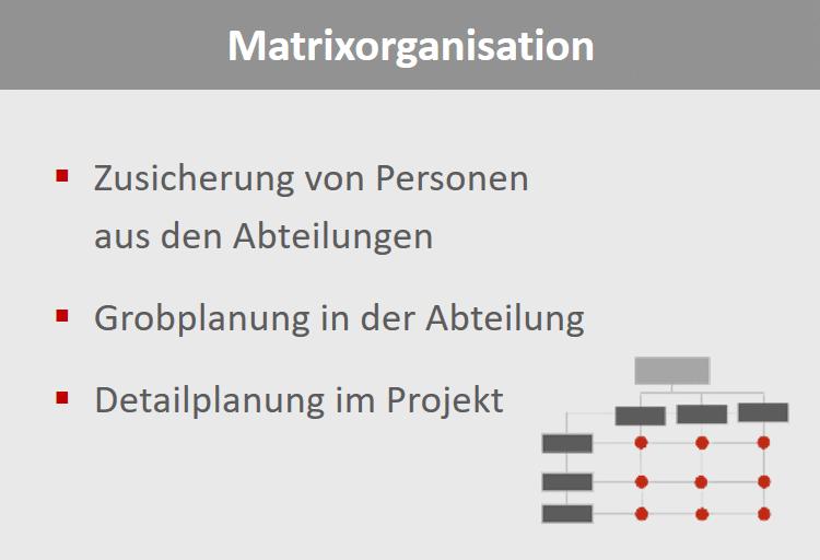 Matrixorganisation - wer ist wann in welchem Projekt im Einsatz?
