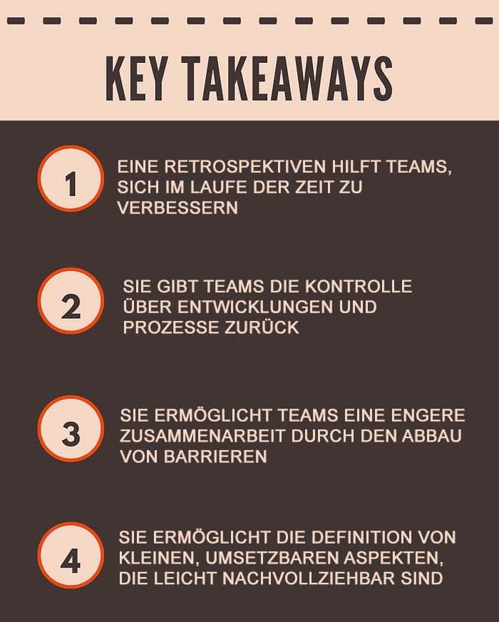 4 Key Takeaways über Retrospektiven