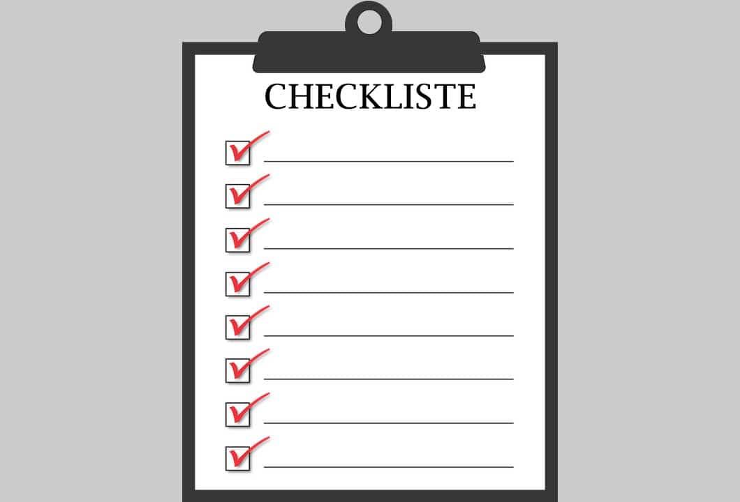 Checkliste als Fragenkatalog oder Prüfliste