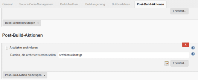 Post-Build-Aktionen in Jenkins