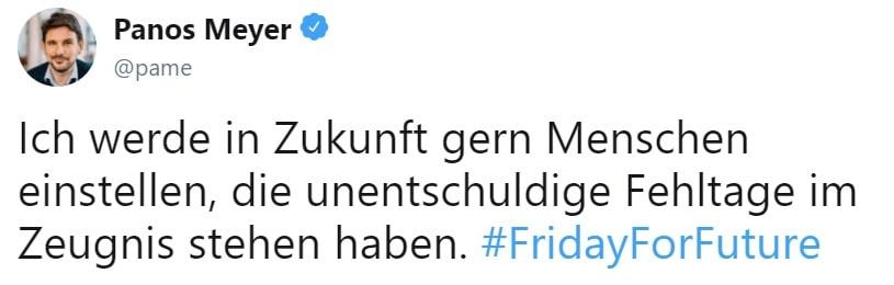 Tweet von Panos Meyer - Blog - t2informatik