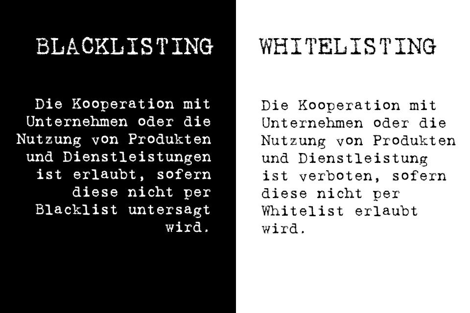 Blacklisting vs. Whitelisting - was ist der Unterschied?