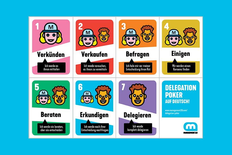 Delegation Poker - spielerisch die Delegation von Entscheidungen festlegen