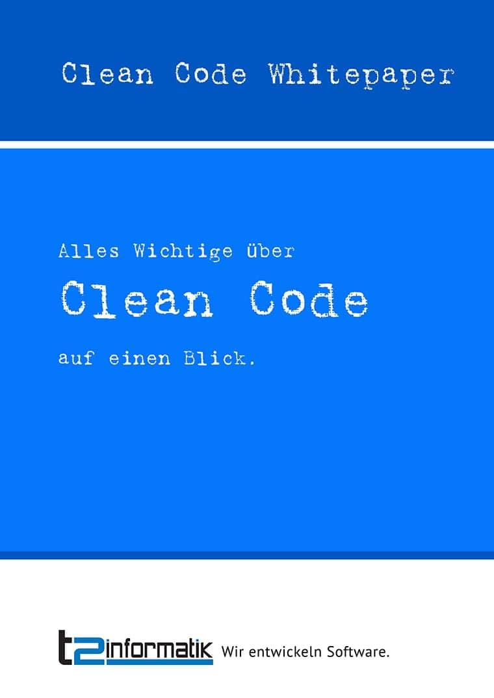 Clean Code Whitepaper zum Herunterladen