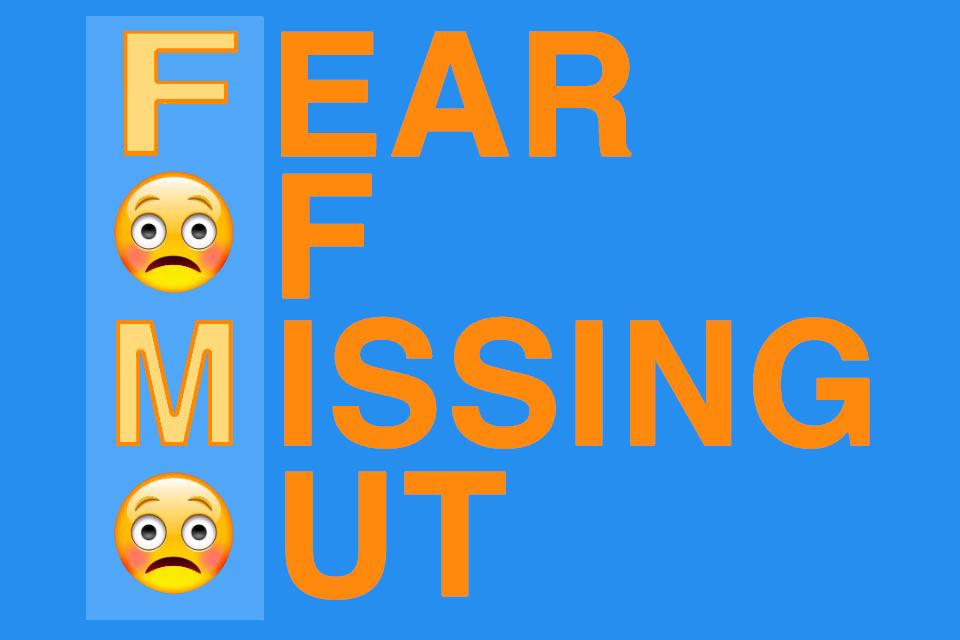 FOMO-Effekt - ein Phänomen, bei dem Menschen aus Angst etwas zu verpassen agieren