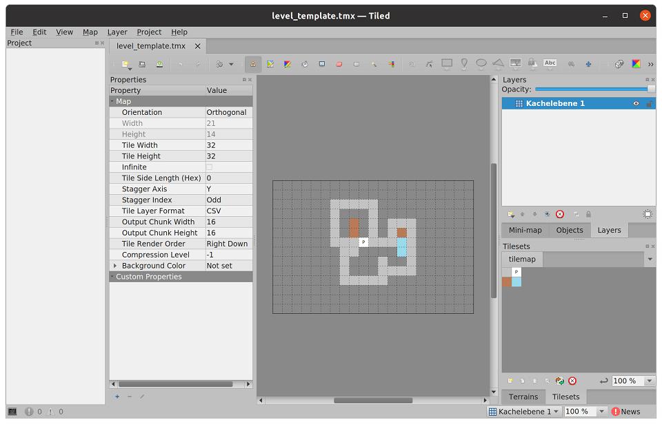 Tile Set im Tiled Map Editor
