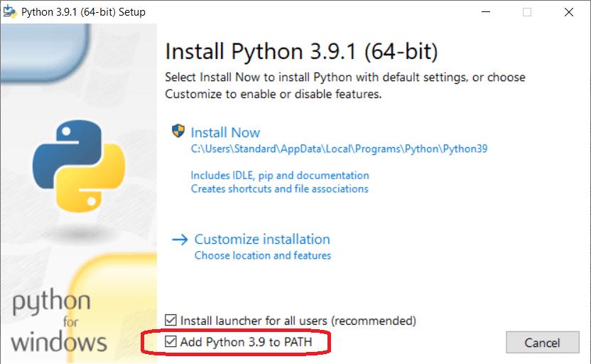 Installation Python